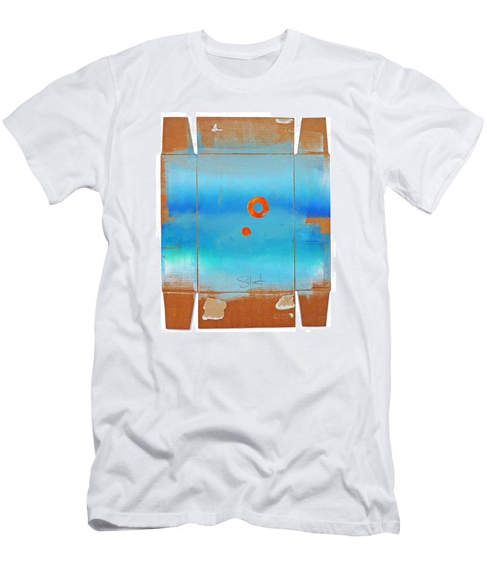 Seascape Men's T-Shirt (Athletic Fit) featuring the digital art Blue Turner Walkabout by Charles Stuart