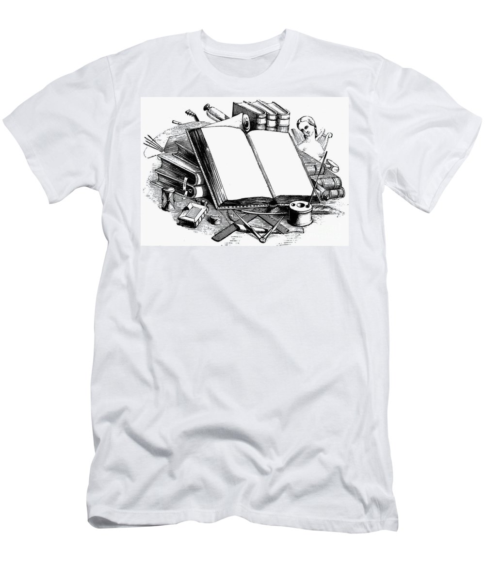 19th Century Men's T-Shirt (Athletic Fit) featuring the photograph Books: Decorative Cuts by Granger