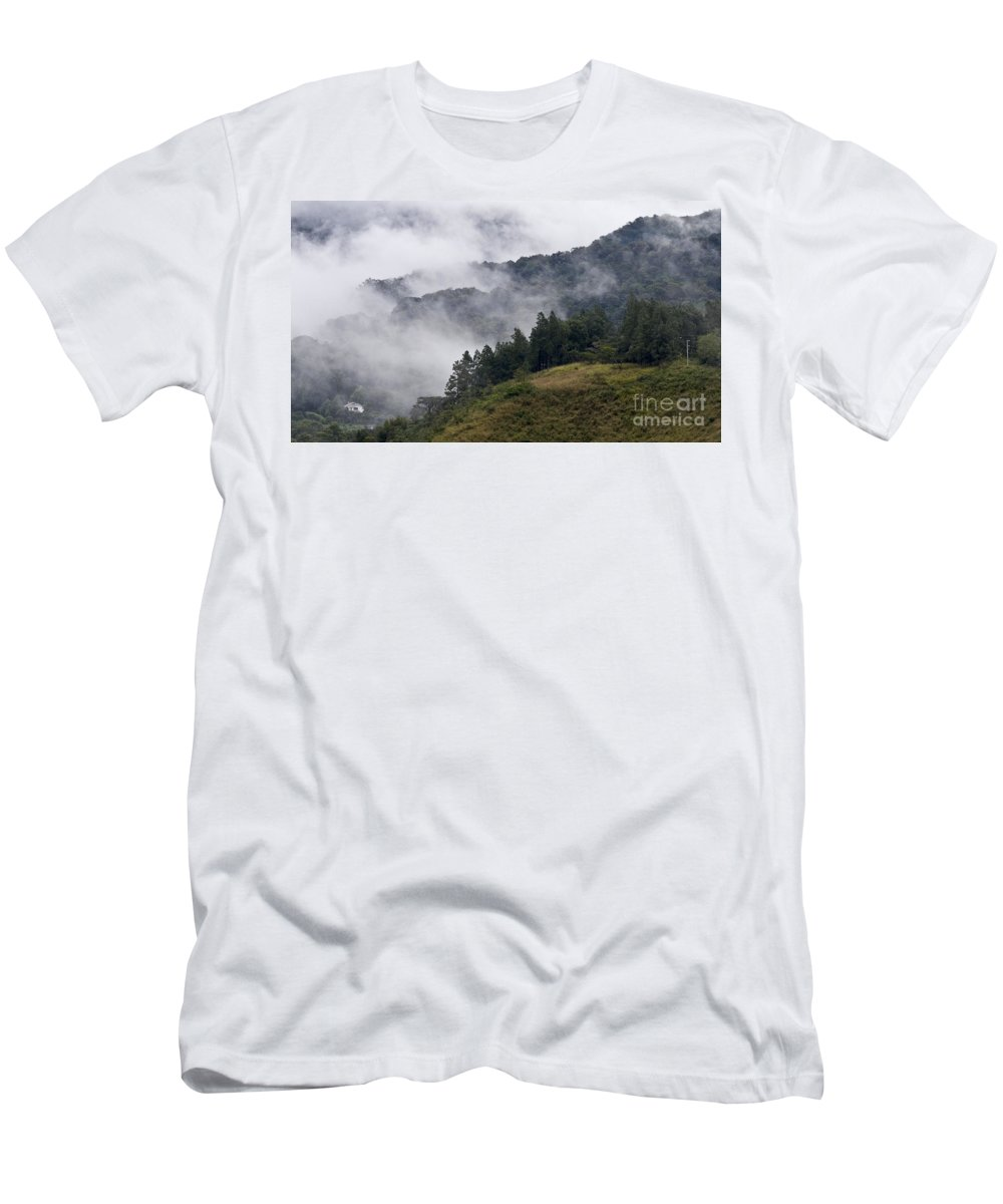 Central America Men's T-Shirt (Athletic Fit) featuring the photograph Boquete Highlands by Heiko Koehrer-Wagner