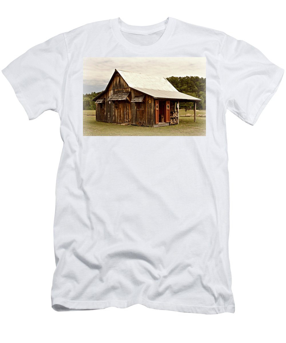 Old Men's T-Shirt (Athletic Fit) featuring the photograph Bo's Shack by Marty Koch