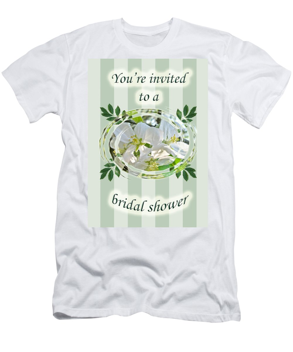 Bridal Men's T-Shirt (Athletic Fit) featuring the photograph Bridal Shower Invitation - Apple Blossoms by Mother Nature