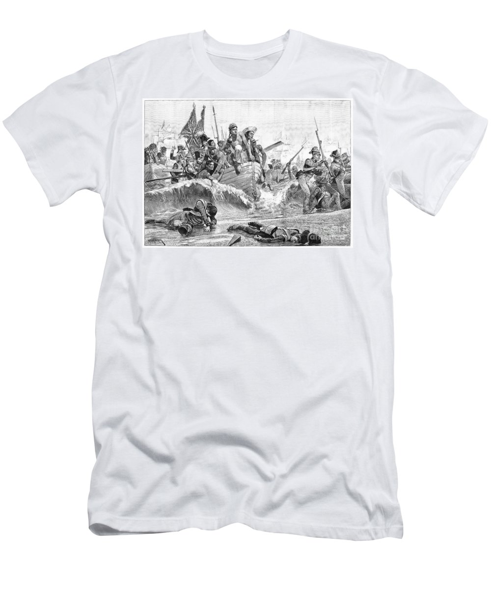 1801 Men's T-Shirt (Athletic Fit) featuring the photograph British At Aboukir, 1801 by Granger