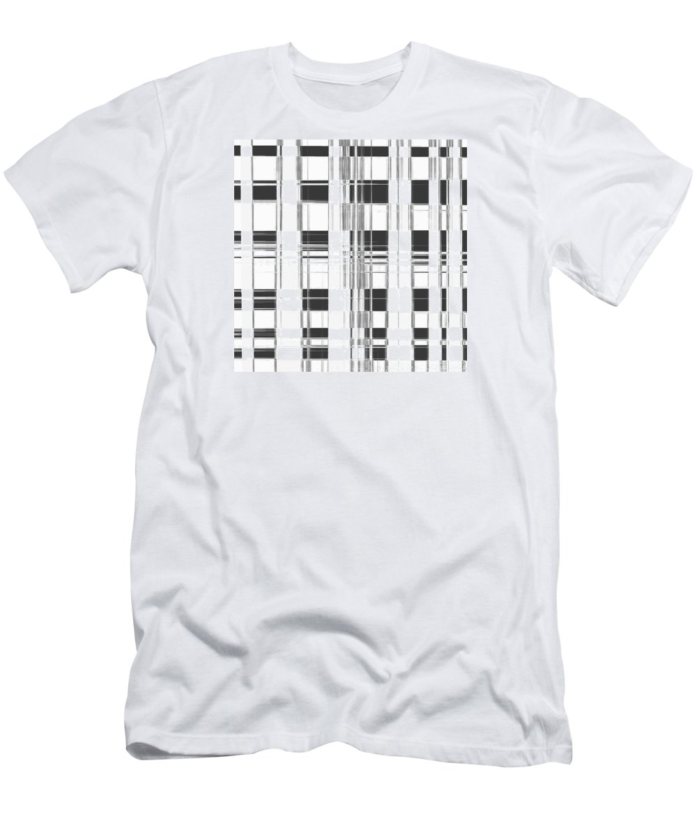 Grid Men's T-Shirt (Athletic Fit) featuring the digital art Building by Efrat Fass