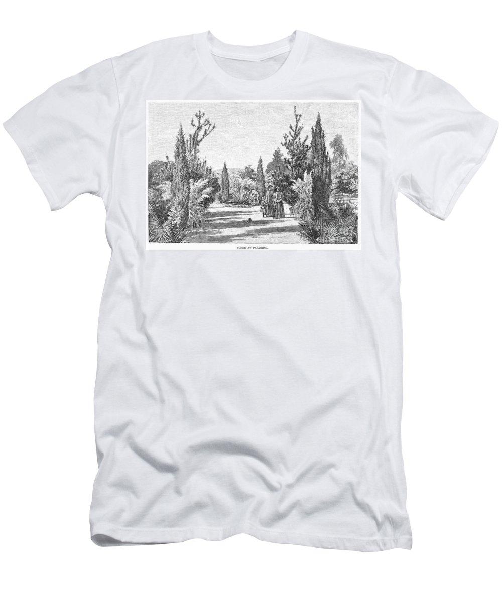 1890 Men's T-Shirt (Athletic Fit) featuring the photograph California: Pasadena, 1890 by Granger