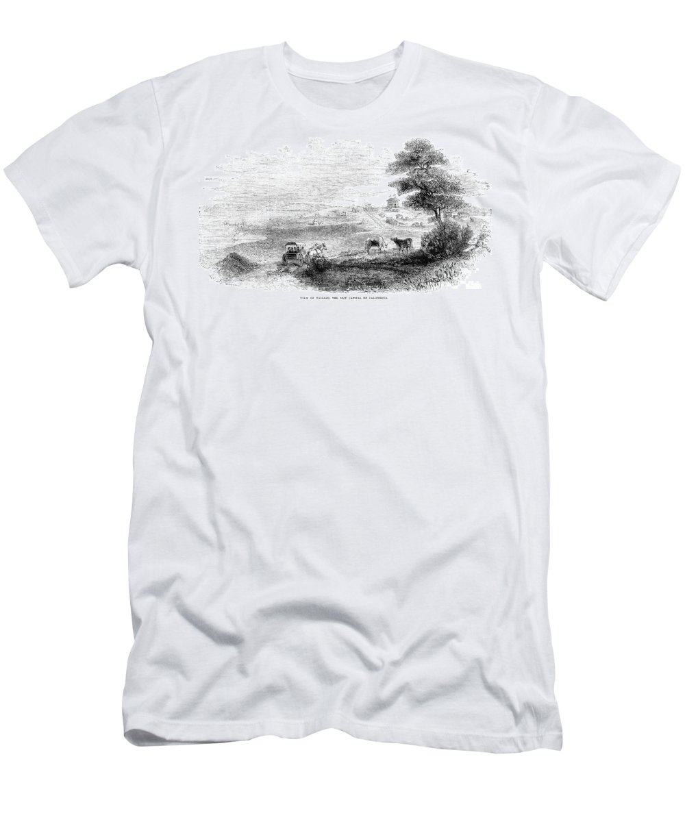 1852 Men's T-Shirt (Athletic Fit) featuring the photograph California: Vallejo, 1852 by Granger