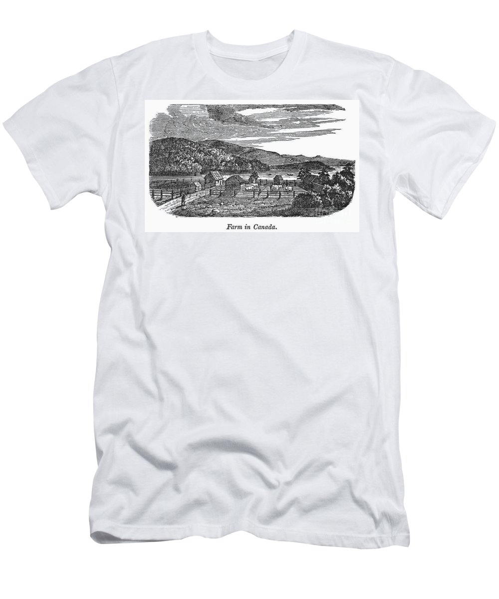 1820 Men's T-Shirt (Athletic Fit) featuring the photograph Canada: Farm, C1820 by Granger