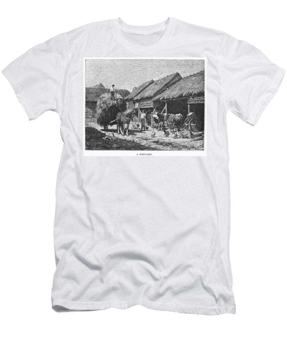 1883 Men's T-Shirt (Athletic Fit) featuring the photograph Canada: Farming, 1883 by Granger