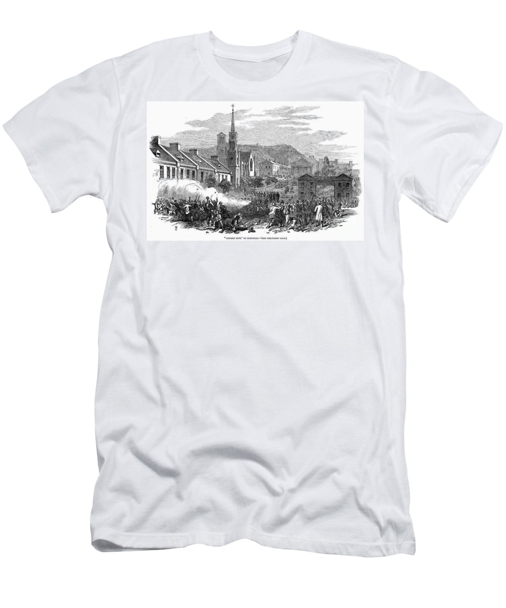 1853 Men's T-Shirt (Athletic Fit) featuring the photograph Canada: Gavazzi Riot, 1853 by Granger