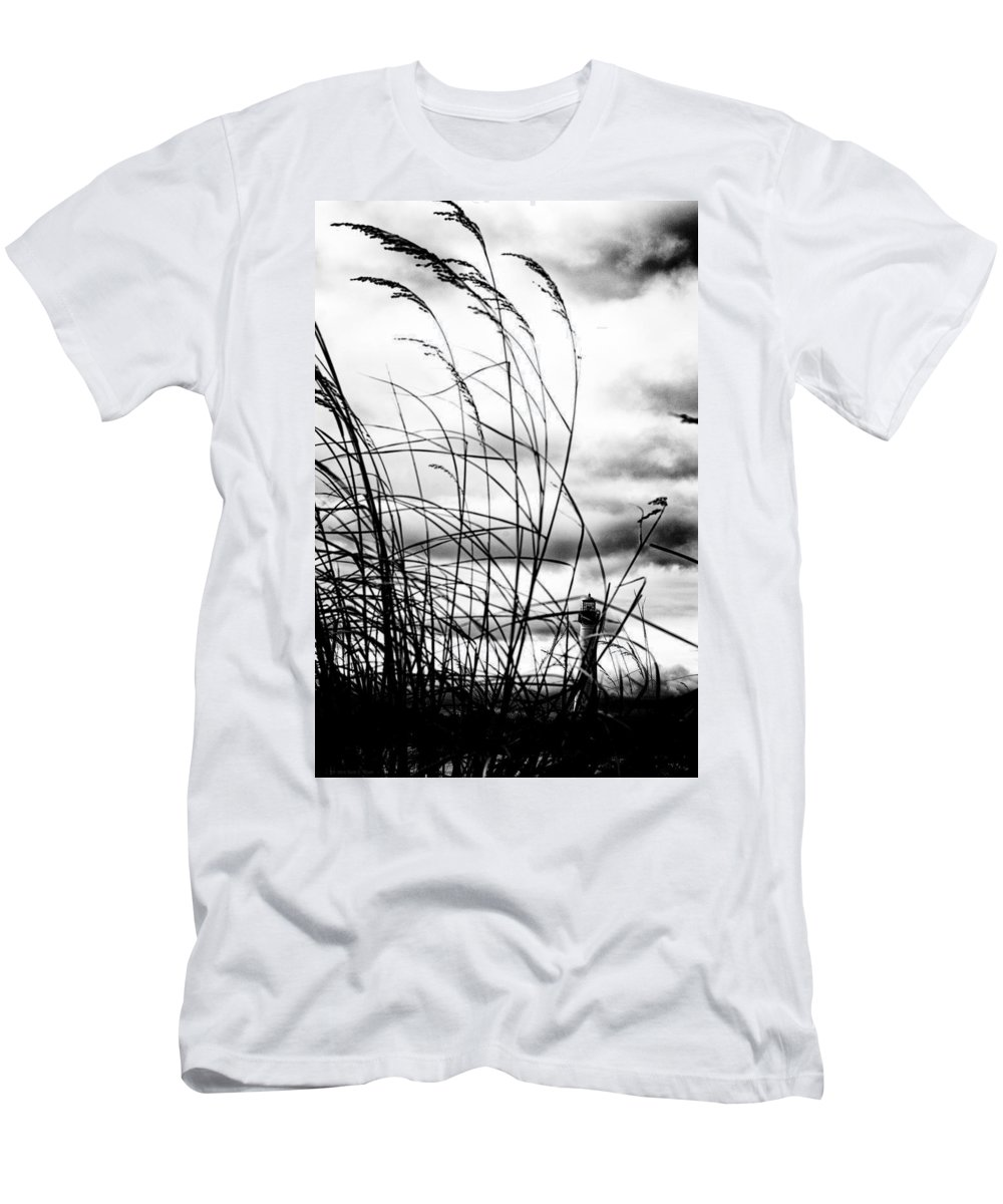 Cape May Men's T-Shirt (Athletic Fit) featuring the photograph Cape Of Darkness by Scott Wyatt