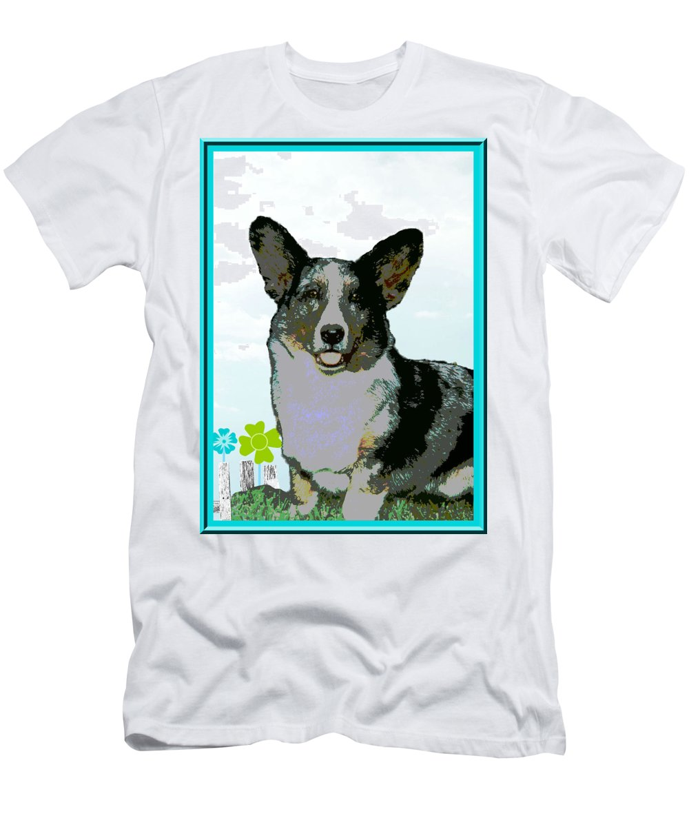 Cardigan Welsh T-Shirt featuring the photograph Cardigan Welsh Corgi by One Rude Dawg Orcutt