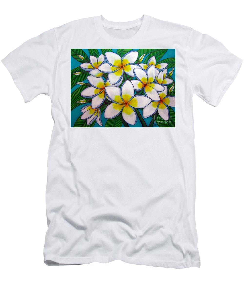 Frangipani T-Shirt featuring the painting Caribbean Gems by Lisa Lorenz
