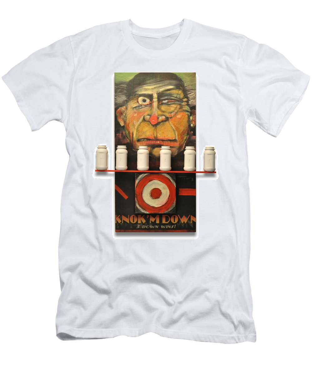 Carny Men's T-Shirt (Athletic Fit) featuring the digital art Carny With Type Poster by Tim Nyberg