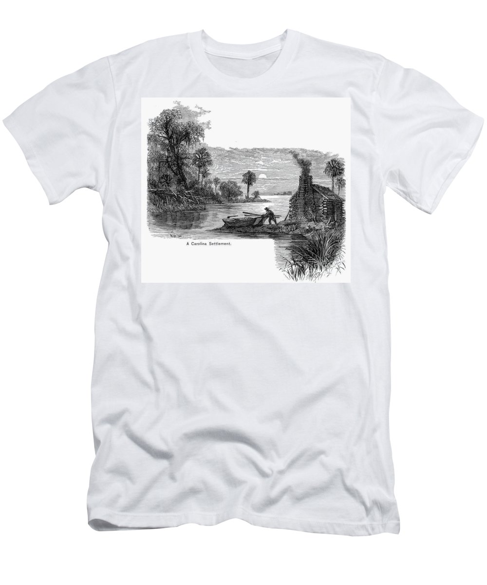 17th Century Men's T-Shirt (Athletic Fit) featuring the photograph Carolina Settlement by Granger