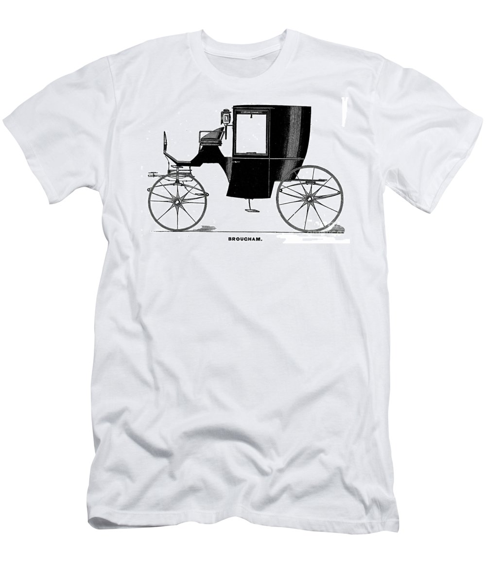 1838 Men's T-Shirt (Athletic Fit) featuring the photograph Carriage: Brougham by Granger