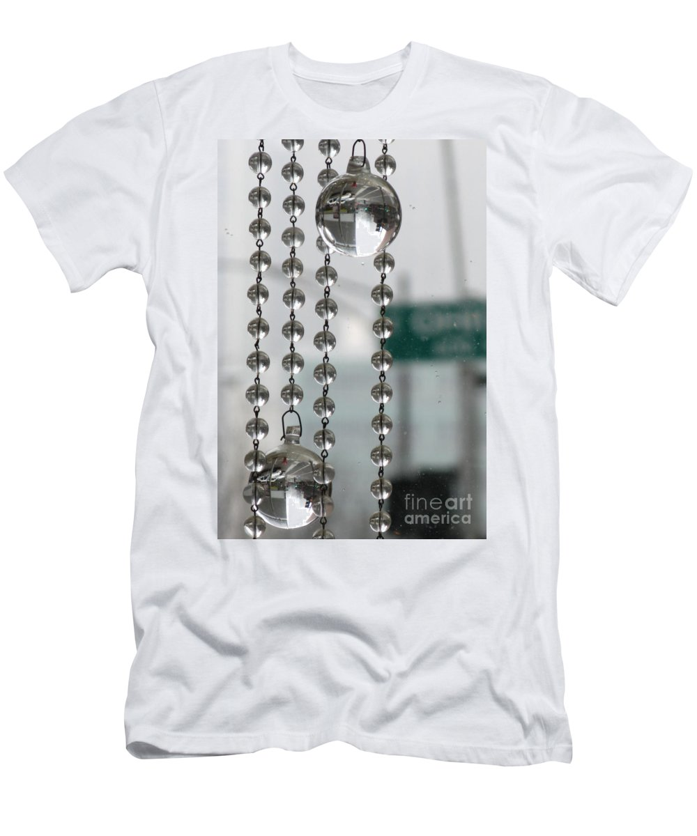 Chicago Men's T-Shirt (Athletic Fit) featuring the photograph Chicago In The Bubble by Ausra Huntington nee Paulauskaite