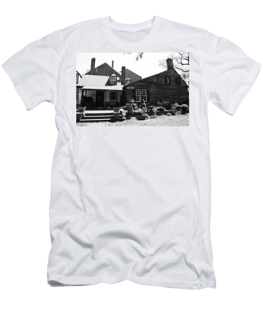 Neighbor Men's T-Shirt (Athletic Fit) featuring the photograph Chimney Topz by Phil Cappiali Jr