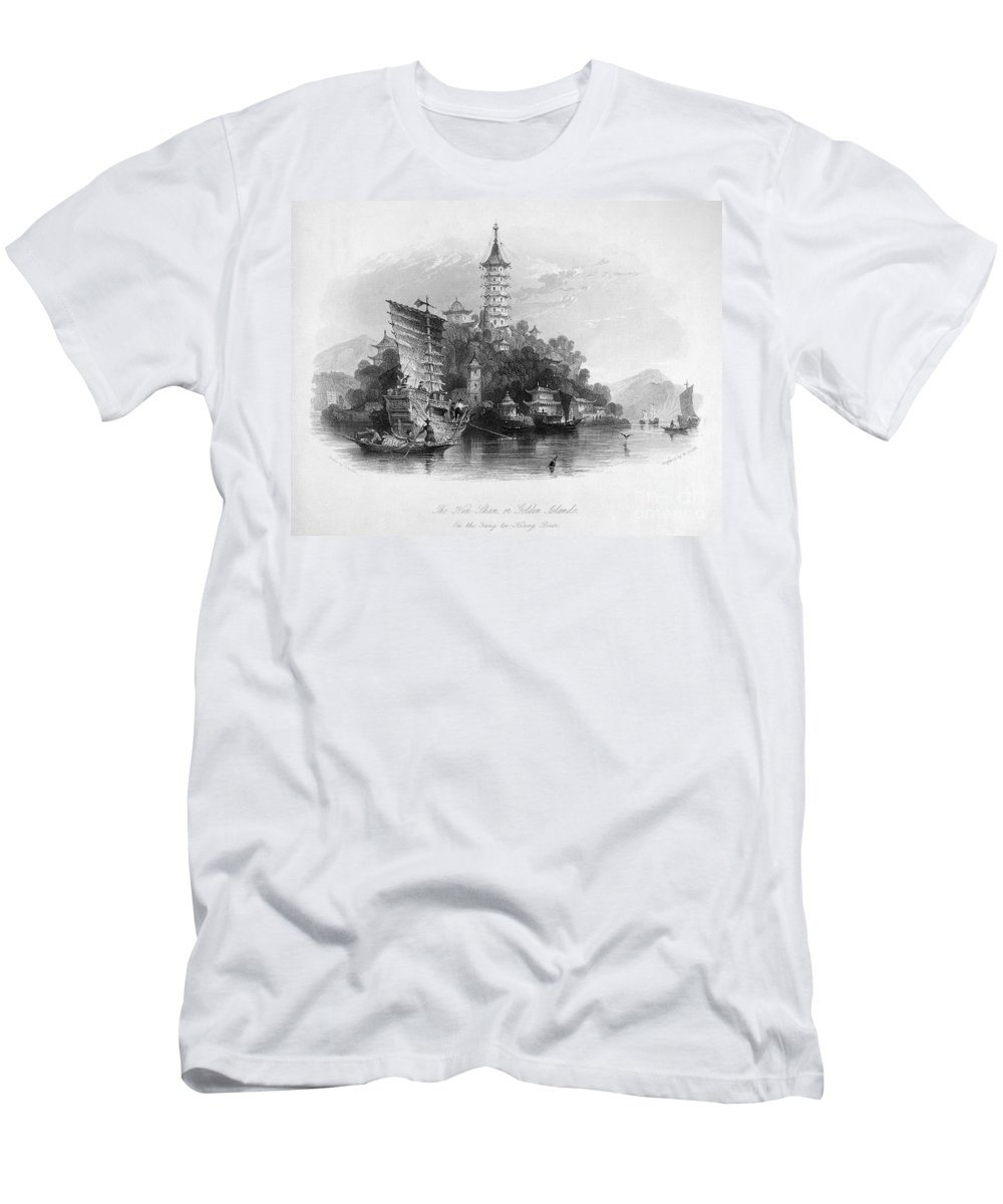 1843 Men's T-Shirt (Athletic Fit) featuring the photograph China: Golden Island, 1843 by Granger