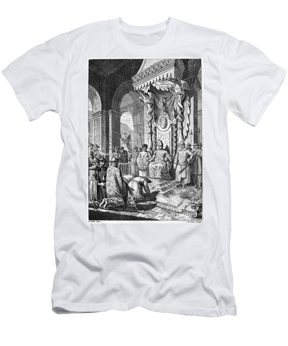 1600 Men's T-Shirt (Athletic Fit) featuring the photograph China: Paying Tribute, C1600 by Granger