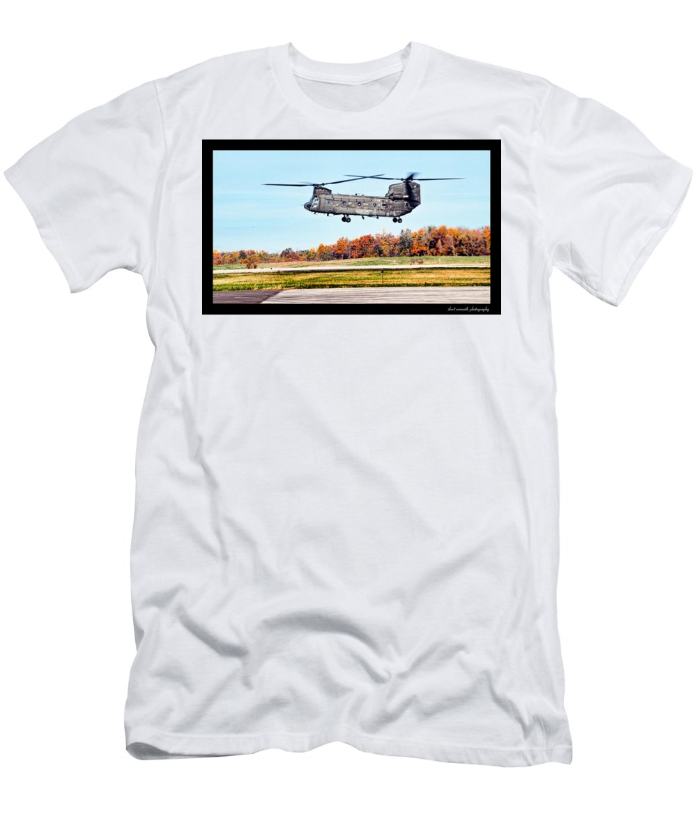 Army Men's T-Shirt (Athletic Fit) featuring the photograph Chinook by Sheri Bartoszek