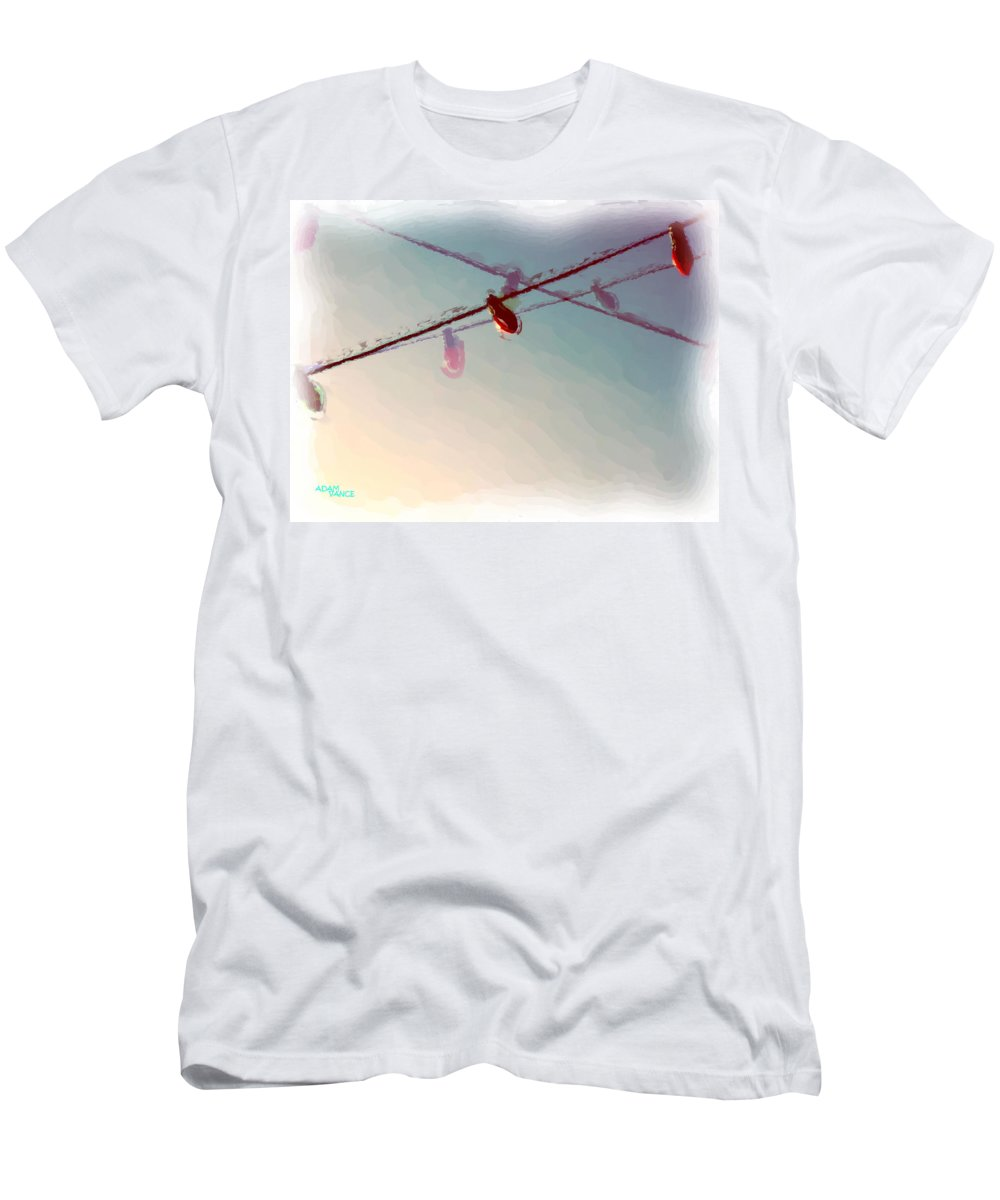 Christmas Men's T-Shirt (Athletic Fit) featuring the painting Christmas Fun by Adam Vance