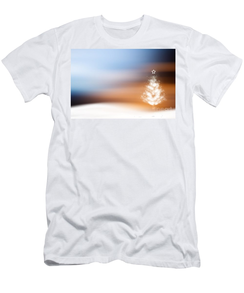 Winter Men's T-Shirt (Athletic Fit) featuring the photograph Christmas Tree by Kati Finell