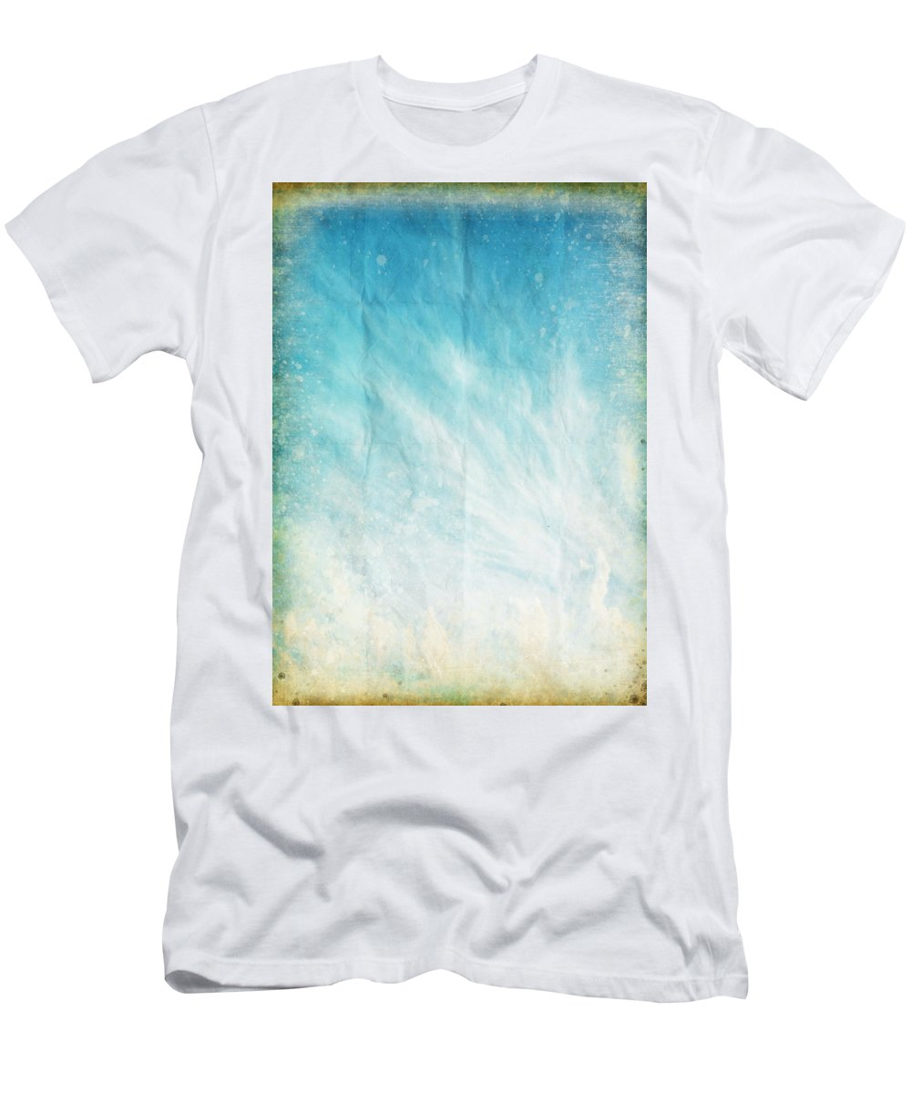 Cloud And Blue Sky On Old Grunge Paper T Shirt For Sale By Setsiri Circuit Board Graphic Greeting Card Abstract Mens Athletic Fit Featuring The Photograph