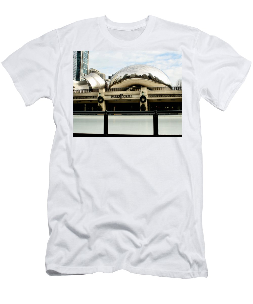 Chicago Men's T-Shirt (Athletic Fit) featuring the photograph Cloud Gate - 2 by Ely Arsha