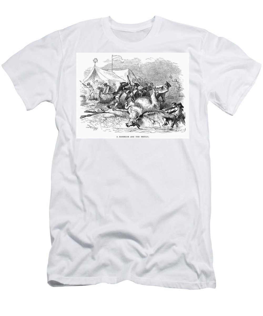 1766 Men's T-Shirt (Athletic Fit) featuring the photograph Colonial Barbecue, C1766 by Granger