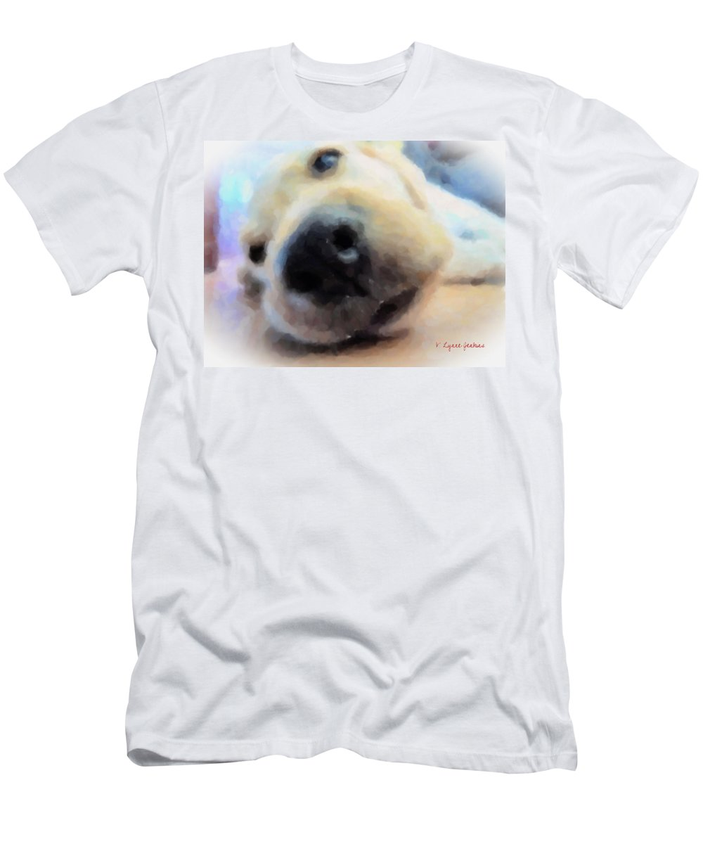 Dog Men's T-Shirt (Athletic Fit) featuring the painting Contentment by Lynne Jenkins