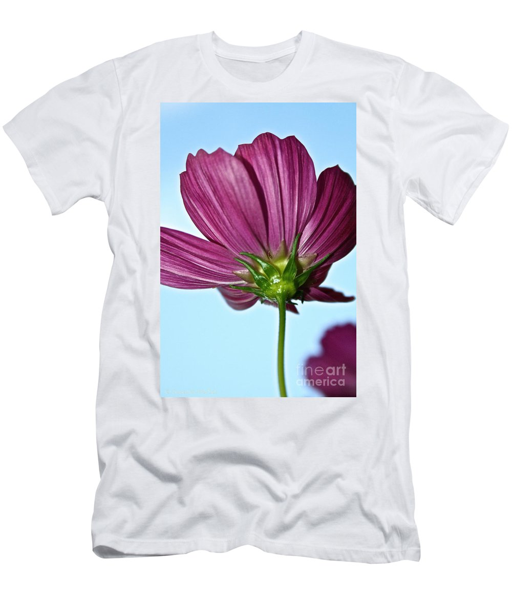 Outdoors Men's T-Shirt (Athletic Fit) featuring the photograph Cosmos Skies by Susan Herber