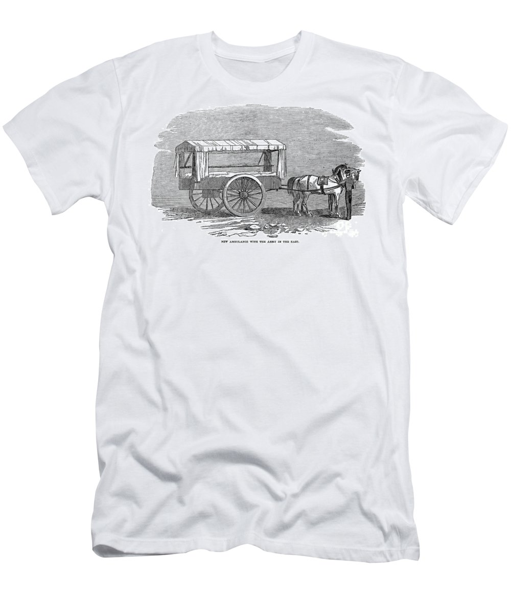 1854 Men's T-Shirt (Athletic Fit) featuring the photograph Crimean War: Ambulance by Granger