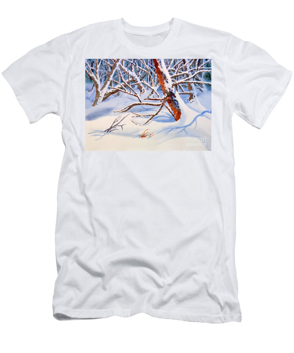 Tree Men's T-Shirt (Athletic Fit) featuring the painting Cross Country by Mohamed Hirji