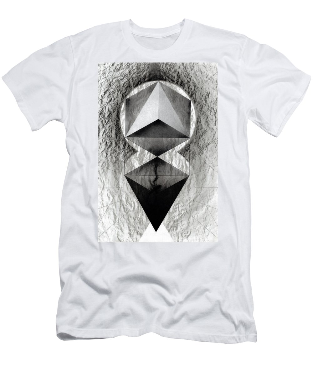 Lithograph Men's T-Shirt (Athletic Fit) featuring the photograph Crucible by David Kleinsasser