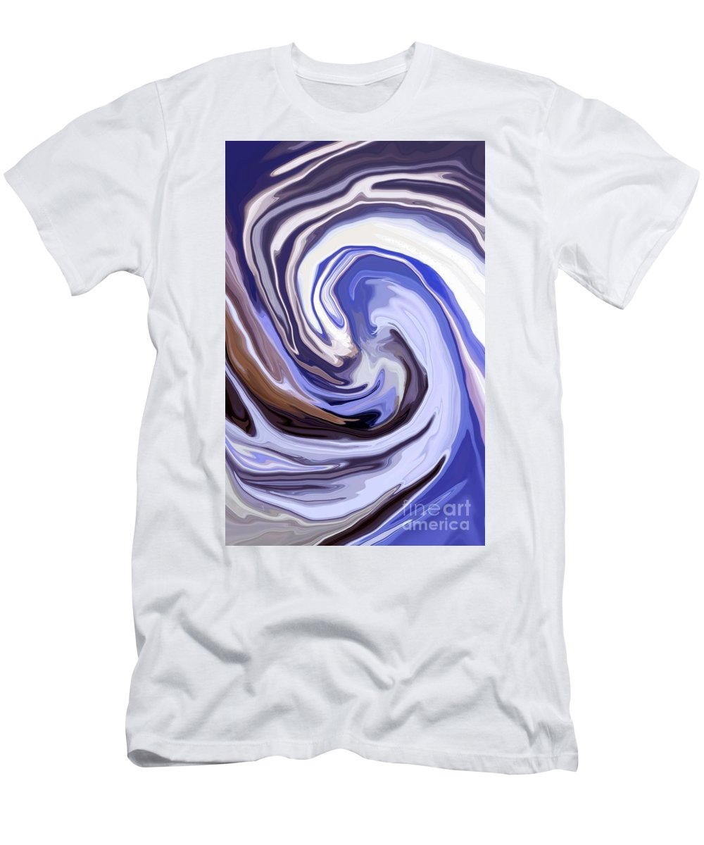 Abstract Men's T-Shirt (Athletic Fit) featuring the mixed media Cyclone by Chris Butler