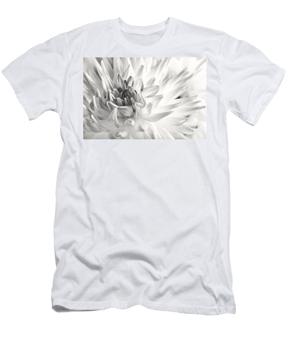Dahlia Men's T-Shirt (Athletic Fit) featuring the photograph Dahlia Flower 02 by Nailia Schwarz