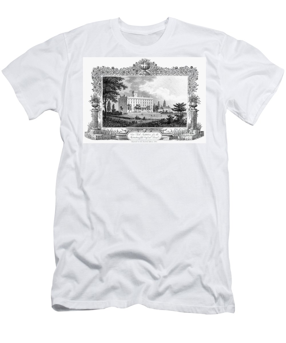 1835 Men's T-Shirt (Athletic Fit) featuring the photograph Deaf And Dumb Asylum, 1835 by Granger