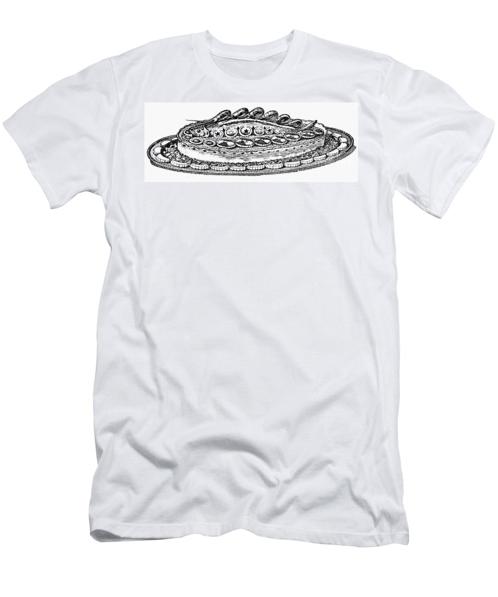 19th Century Men's T-Shirt (Athletic Fit) featuring the photograph Decorative French Cuisine by Granger