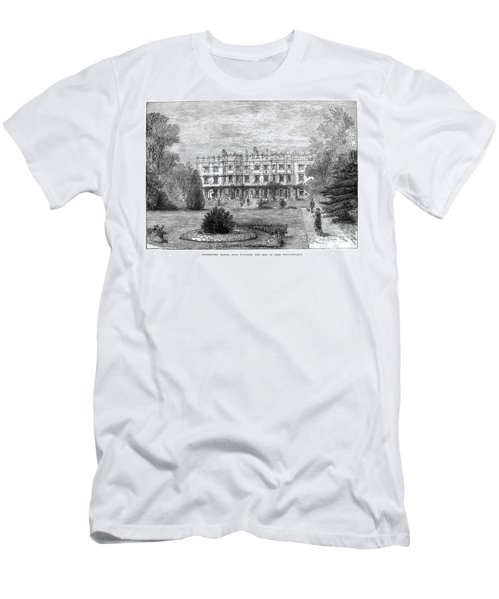 1881 Men's T-Shirt (Athletic Fit) featuring the photograph Disraelis Residence by Granger