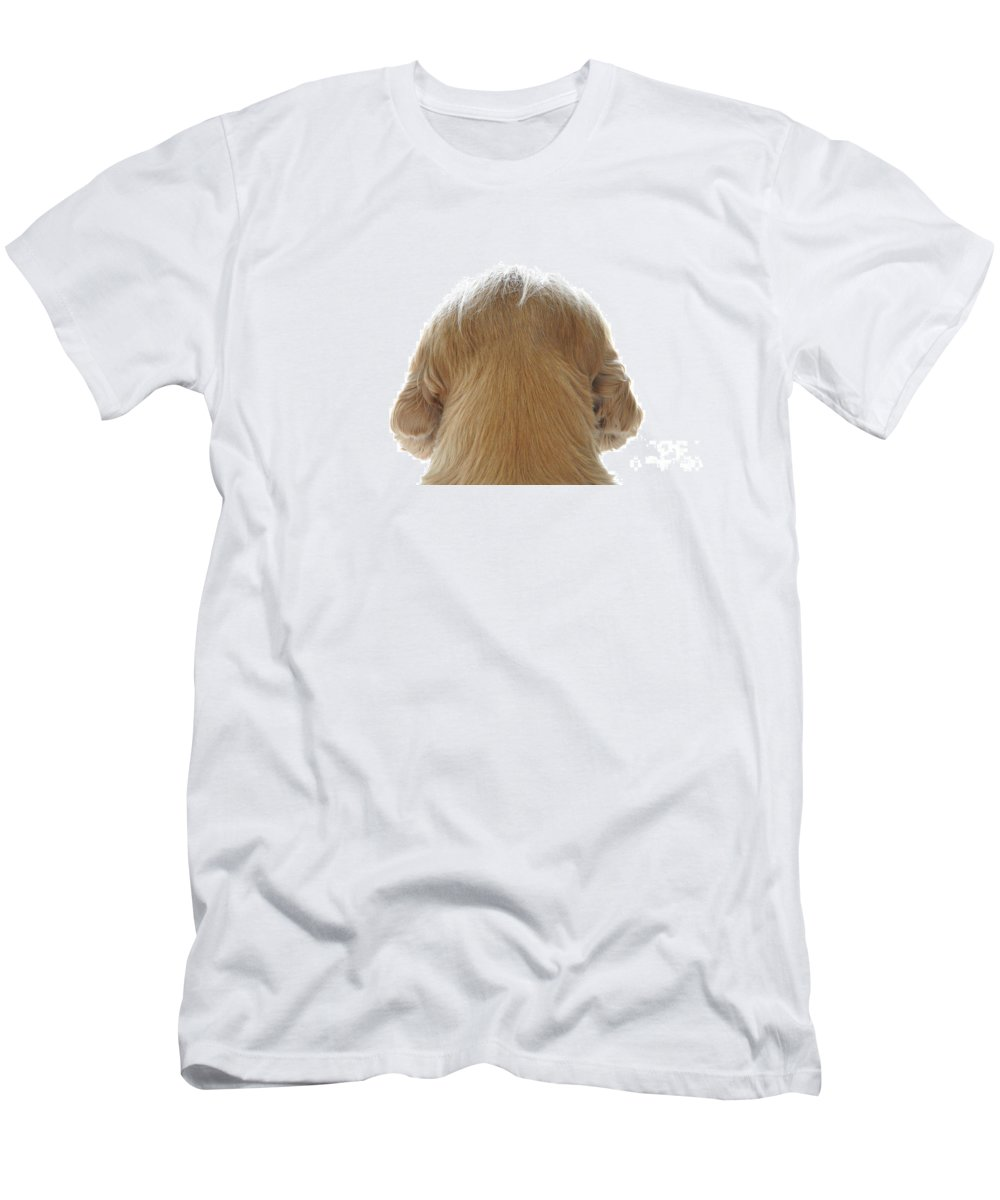 Dog Men's T-Shirt (Athletic Fit) featuring the photograph Dog Watching Out by Mats Silvan