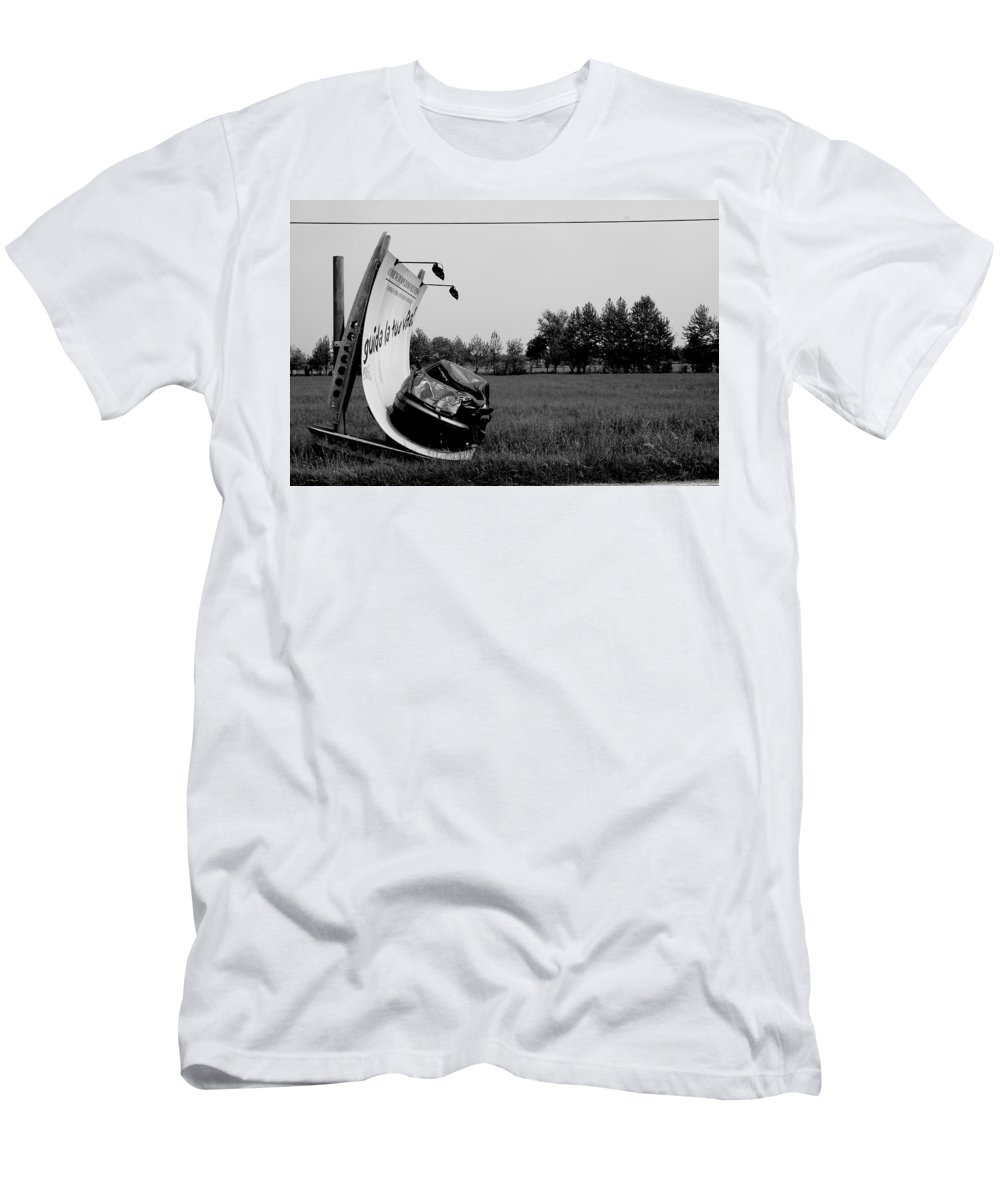 Life Men's T-Shirt (Athletic Fit) featuring the photograph Don't Drink And Drive by Donato Iannuzzi