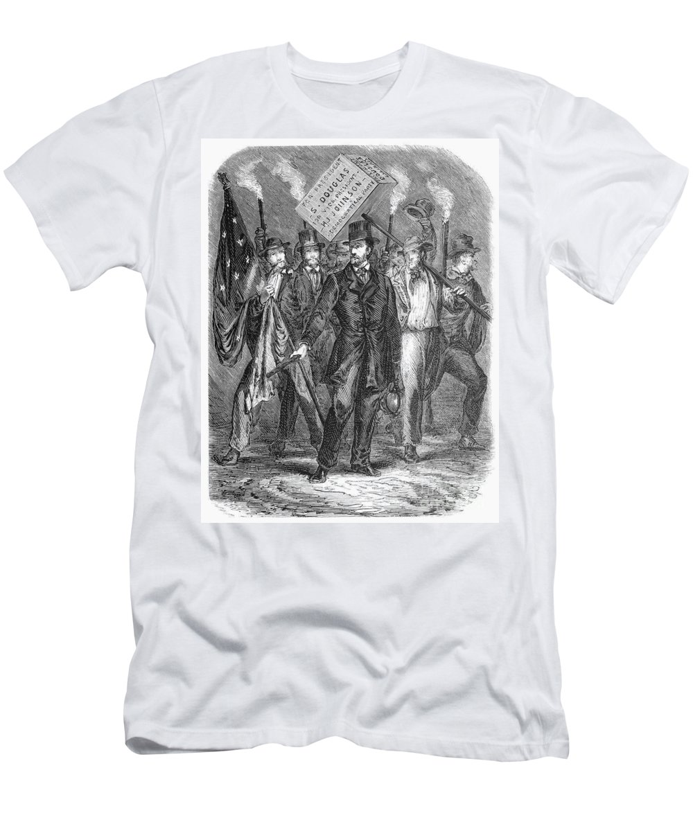 1860 Men's T-Shirt (Athletic Fit) featuring the photograph Douglas: Election Of 1860 by Granger