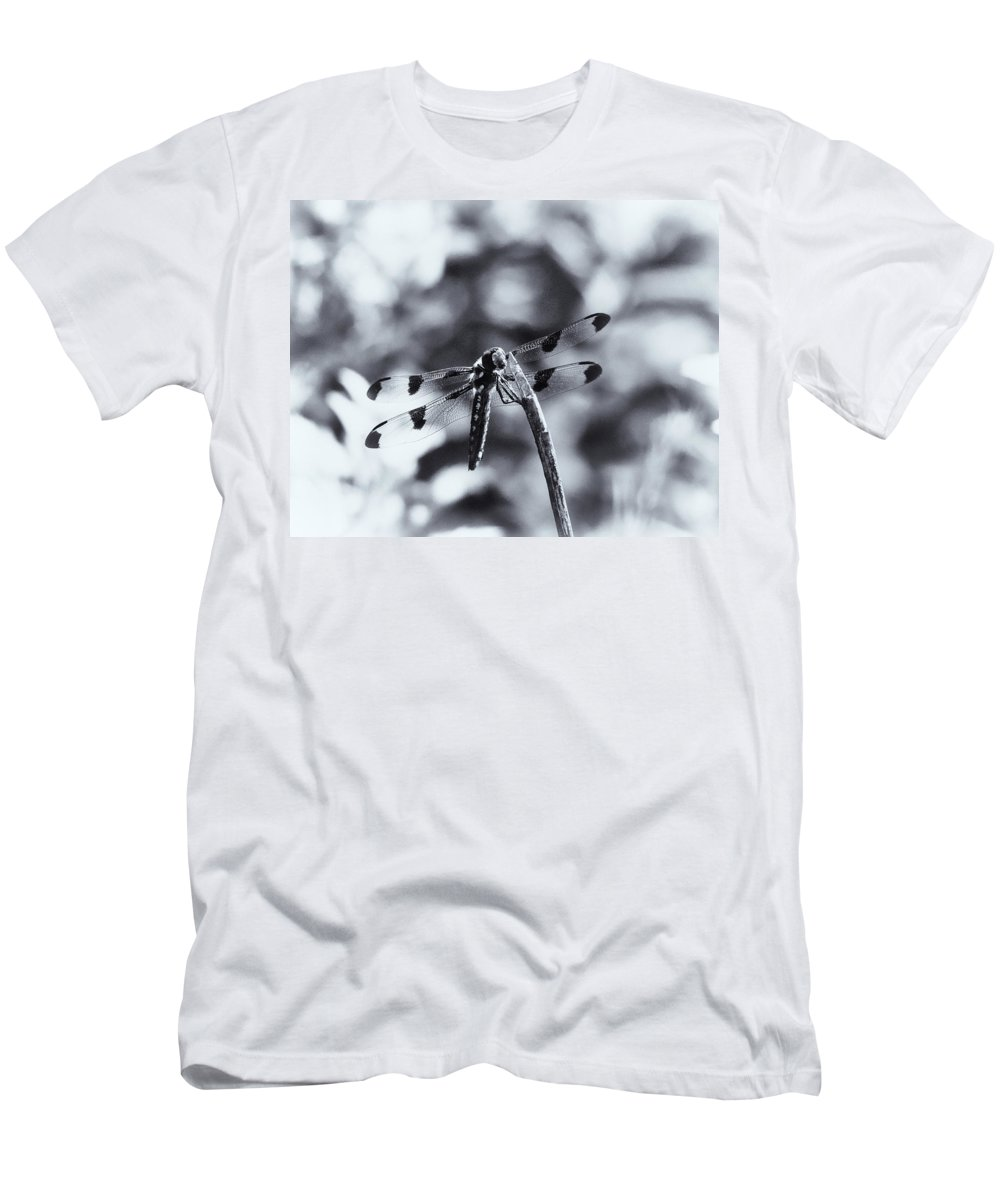 Dragonflly Men's T-Shirt (Athletic Fit) featuring the photograph Dragonfly In The Sun by Susan Capuano