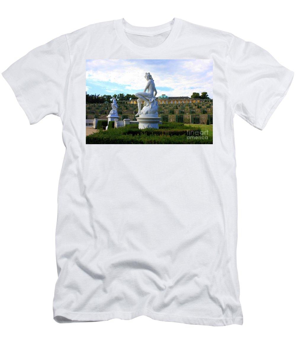 Sanssouci Palace Men's T-Shirt (Athletic Fit) featuring the photograph Dramatic Sanssouci by Carol Groenen