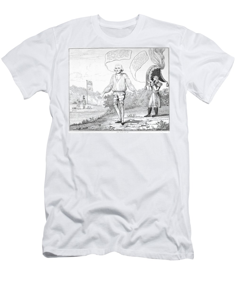 1809 Men's T-Shirt (Athletic Fit) featuring the photograph Embargo Repeal, 1809 by Granger