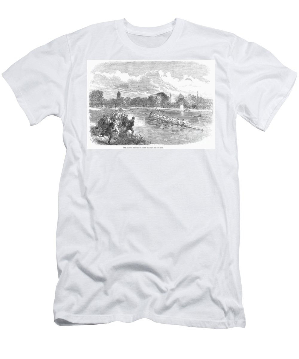 1866 Men's T-Shirt (Athletic Fit) featuring the photograph England: Boat Race, 1866 by Granger