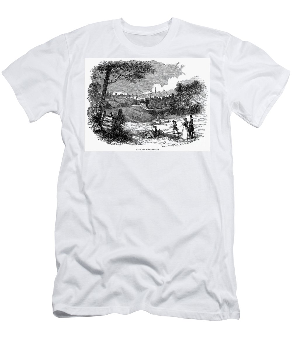 1842 Men's T-Shirt (Athletic Fit) featuring the photograph England: Manchester, 1842 by Granger