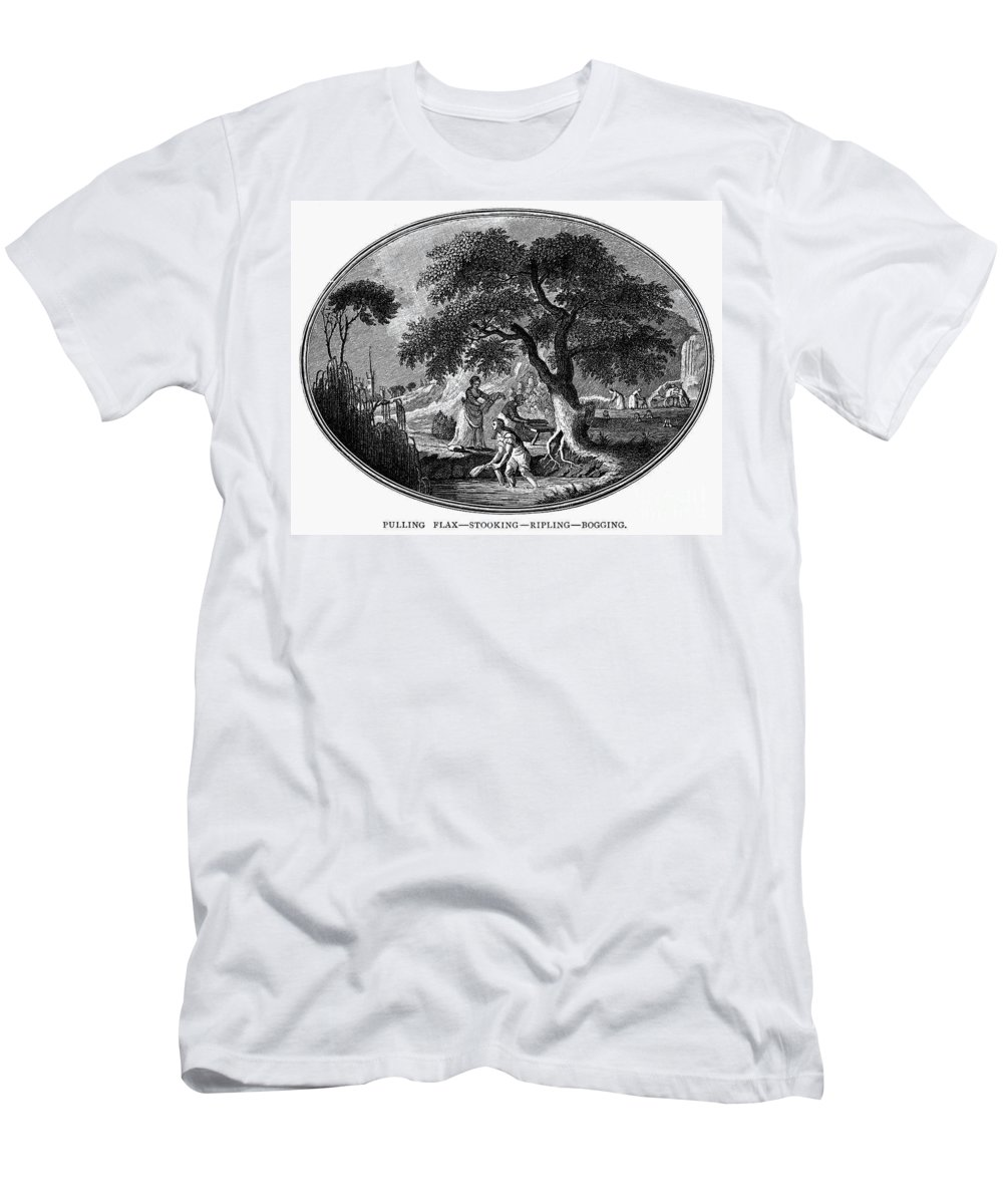 1800 Men's T-Shirt (Athletic Fit) featuring the photograph England: Pulling Flax by Granger