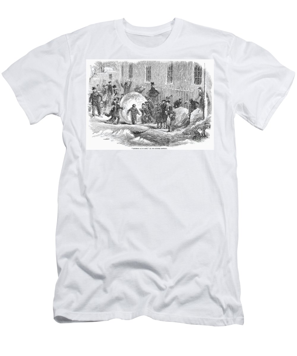 1855 Men's T-Shirt (Athletic Fit) featuring the photograph England: Winter, 1855 by Granger