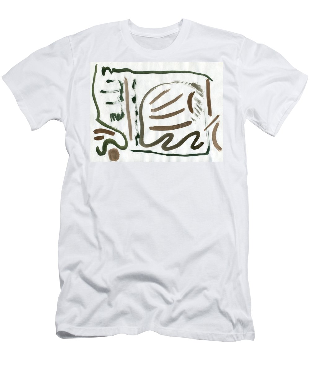 Fatal Pond Men's T-Shirt (Athletic Fit) featuring the painting Fatal Pond by Taylor Webb