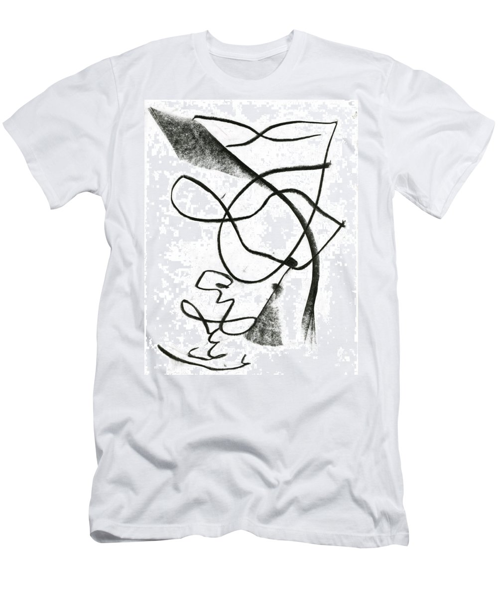 Felt Signature Men's T-Shirt (Athletic Fit) featuring the painting Felt Signature by Taylor Webb